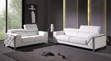 903WH-2PC 2 pc Orren ellis luigi white italian leather sofa and love seat set