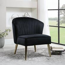 903030 Everly quinn jasiah black velvet fabric brass metal finish frame retro style barrel back chair