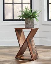 910180 Ebern designs taos recycled finish wood chair side accent table