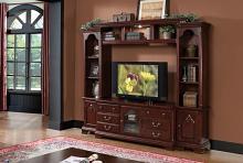 Acme 91110-13 4 pc hercules cherry finish wood slim profile entertainment center wall unit