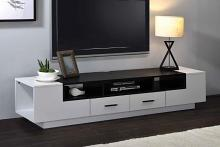 Acme 91275 Armour white and black modern finish wood tv stand with multiple drawers