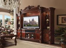 Acme 91315-18 4 pc Astoria grand St James vendome ii cherry finish wood entertainment center wall unit