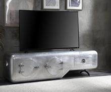 """Acme 91358 17 stories padron brancaster riveted aluminum 79"""" TV stand"""