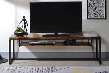 "Acme 91375 Jurgen oak finish wood black metal 67"" TV stand"