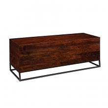 914105 Foundry select cinnamon finish wood storage entry bench with flip top seat for storage