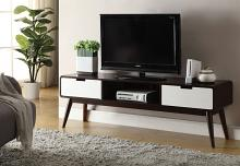 Acme 91510 Corrigan studio eadie christa white and espresso finish wood mid century modern TV stand