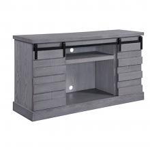 Acme 91616 Amrita grand serena grey oak finish wood farmhouse style tv stand with barn door style doors