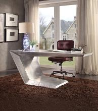 Acme 92025 Brayden studio wesley brancaster aluminum metal frame with riveted design executive desk
