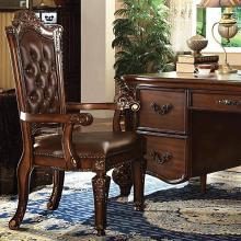 Acme 92126 Vendome cherry finish wood detailed carvings ornate office executive arm chair