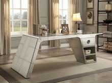 Acme 92190 Brancaster aluminum metal frame with riveted design executive desk