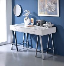 Acme 92229 Willa arlo interiors dayne coleen white high gloss finish wood and chrome frame desk