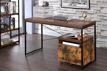 Acme 92396 Mercer 41 ballesteros bob weathered oak and black finish wood metal frame desk