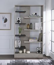 Acme 92532 Magna faux concrete and black finish multi tier book shelf