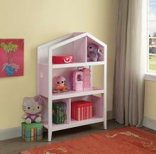 Acme 92560 Doll house cottage white and pink finish wood bookcase