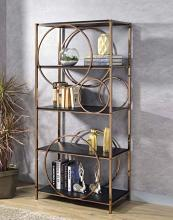 Acme 92659 Latitude run folks hudice champagne finish metal multi tier book case shelf unit