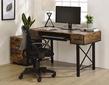 Acme 92795 Mercer 41 ballesteros settea weathered oak and black metal frame desk