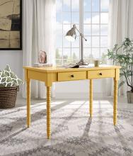 Acme 93013 Beachcrest home andrey aiden yellow finish wood student writing desk with drawers