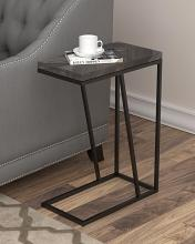 931146 Carbon loft bailex rustic grey top and black finish legs snack chair side end table