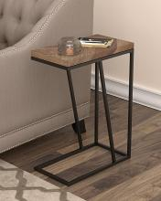 931147 Carbon loft bailex tobacco top and black finish legs snack chair side end table