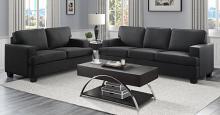 Homelegance 9327BK-SL 2 pc Elmont black textured fabric sofa and love seat set