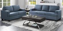 Homelegance 9327BU-SL 2 pc Elmont blue textured fabric sofa and love seat set