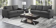 Homelegance 9327CC-SL 2 pc Elmont charcoal textured fabric sofa and love seat set