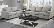 Homelegance 9327KH-SL 2 pc Elmont khaki textured fabric sofa and love seat set