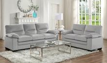 Homelegance 9328GY-2PC 2 pc Keighly gray textured fabric sofa and love seat set