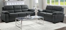 Homelegance 9333DG-SL 2 pc Orren ellis Holleman dark gray textured fabric sofa and love seat set