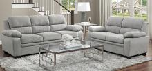 Homelegance 9333GY-SL 2 pc Orren ellis Holleman gray textured fabric sofa and love seat set