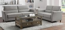 Homelegance 9346GY-SL 2 pc Orren ellis Hinshaw gray textured fabric sofa and love seat set