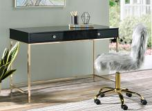 Acme 93540 Mercer 41 spada ottey black high gloss finish wood gold metal frame desk