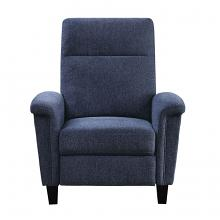 Homelegance 9400CNBU-1 Weisrer blue chenille fabric push back recliner chair