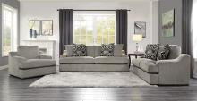 Homelegance 9404GY-2PC 2 pc Orofino gray fabric sofa and love seat set wide arms