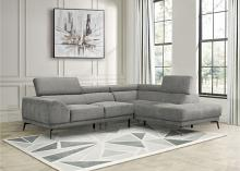 9409GRY Winston porter medora gray fabric sectional sofa with RAF chaise