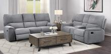 Homelegance 9413CC-2PWH 2 pc Dickinson charcoal chenille fabric motion sofa and love seat set power recliner ends
