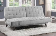Homelegance 9435SV-3WD Winston porter Driggs silver gray chenille fabric futon sofa folding back
