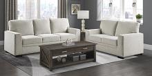 Homelegance 9468BE-2PC 2 pc Morelia beige chenille fabric sofa and love seat set nail head trim