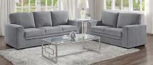 Homelegance 9468DG-2PC 2 pc Morelia gray chenille fabric sofa and love seat set nail head trim