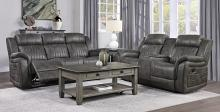 Homelegance 9479BRG-2PC 2 pc Centeroak brown gray polished microfiber motion sofa and love seat set
