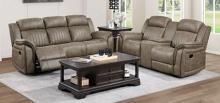 Homelegance 9479SDB-2PC 2 pc Centeroak sandy brown polished microfiber motion sofa and love seat set