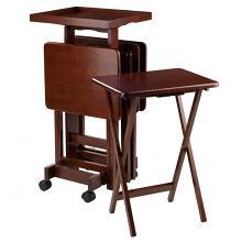 94828 6-PC Snack Table Set Walnut