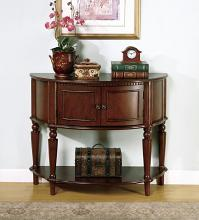 950059 Charlton home hingham brown finish wood console hall table with storage