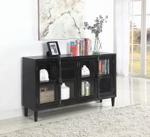 950780 Williston forge clairlea black rustic finish wood console server buffet cabinet