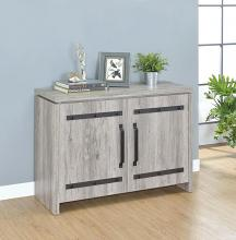 950785 Brayden studio loon peak grey driftwood finish wood black metal 2 door cabinet console