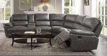 Homelegance 9510-SC 6 pc Knoxville fields brown grey breathable leatherette sectional sofa with recliners