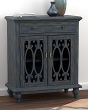 952846 Bungalow rose ashfield blue finish wood french traditional cabinet console