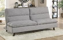 Homelegance 9560GY-3CL Winston porter Mackay gray textured fabric futon sofa folding back
