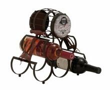 Unique Barrel Themed Antique Wine Holder
