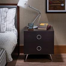 Acme 97336 Elms espresso finish wood 2 drawer nightstand bed side end table